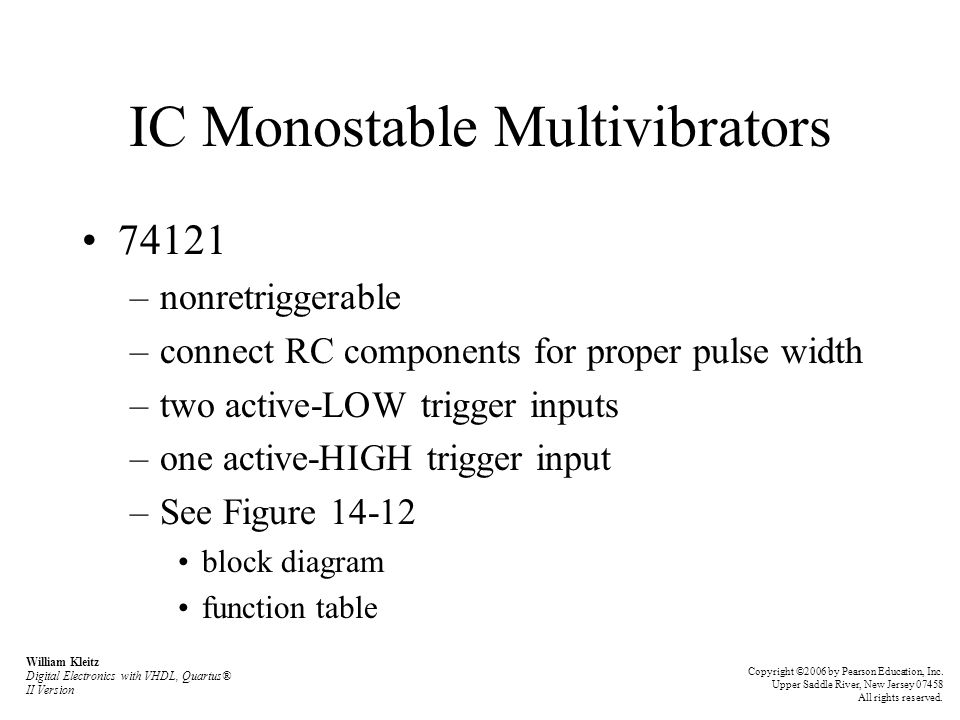 IC Monostable Multivibrators