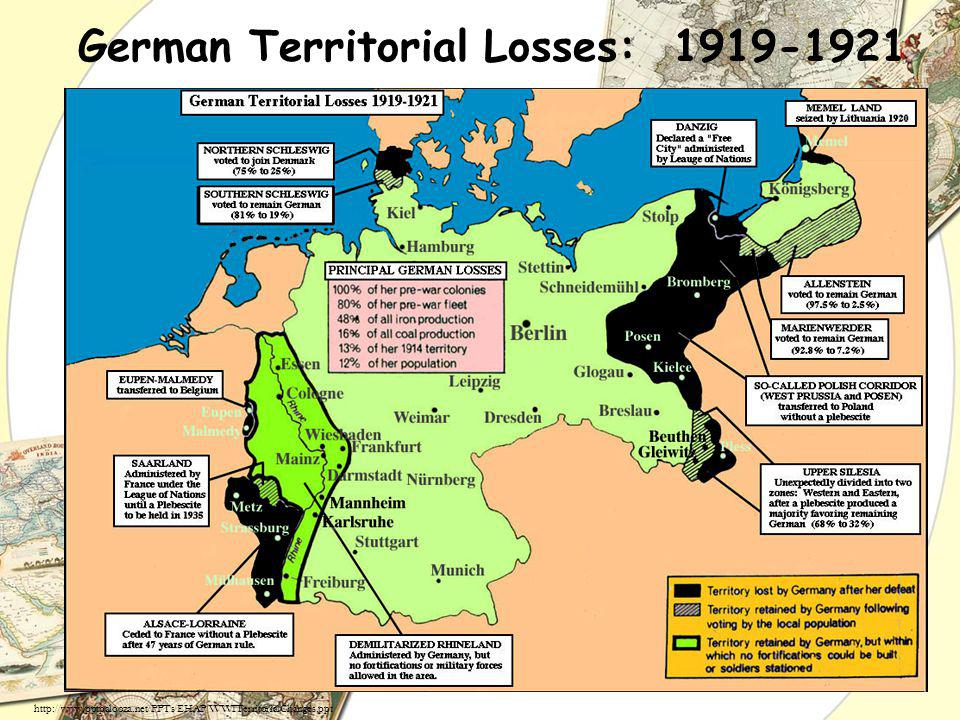 German Territorial Losses: 1919-1921