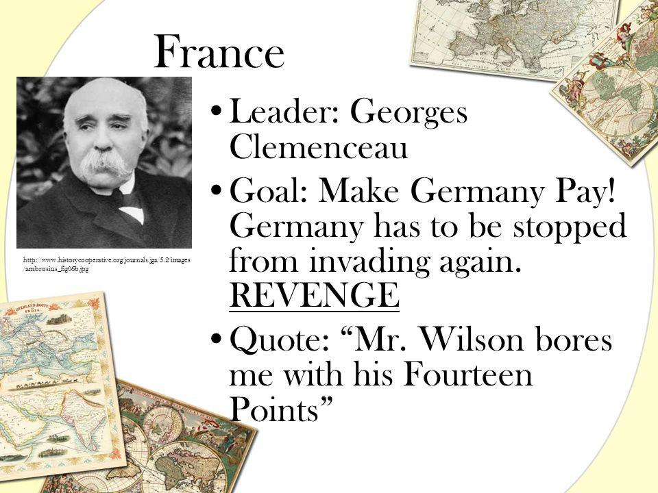 France Leader: Georges Clemenceau