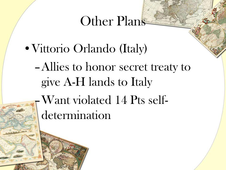 Other Plans Vittorio Orlando (Italy)