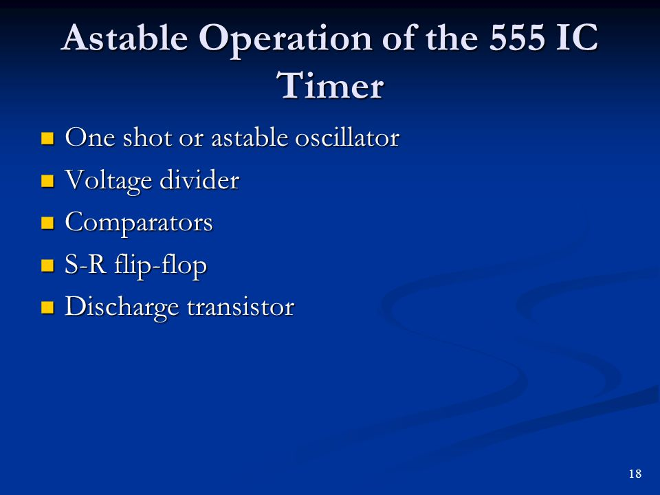 Astable Operation of the 555 IC Timer