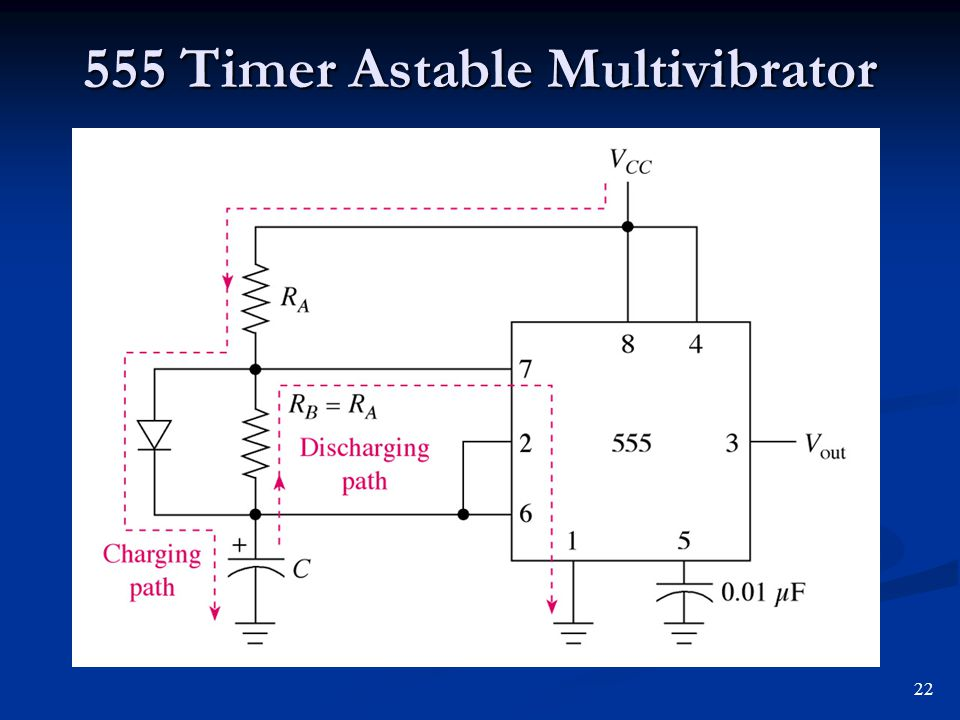 555 Timer Astable Multivibrator