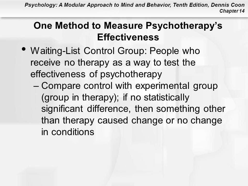 One Method to Measure Psychotherapy's Effectiveness