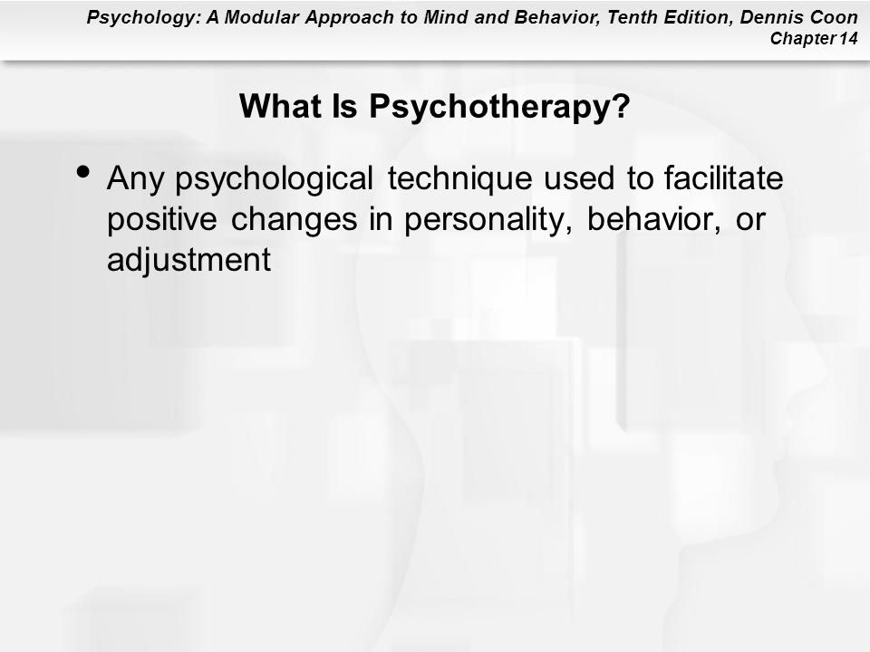 What Is Psychotherapy.