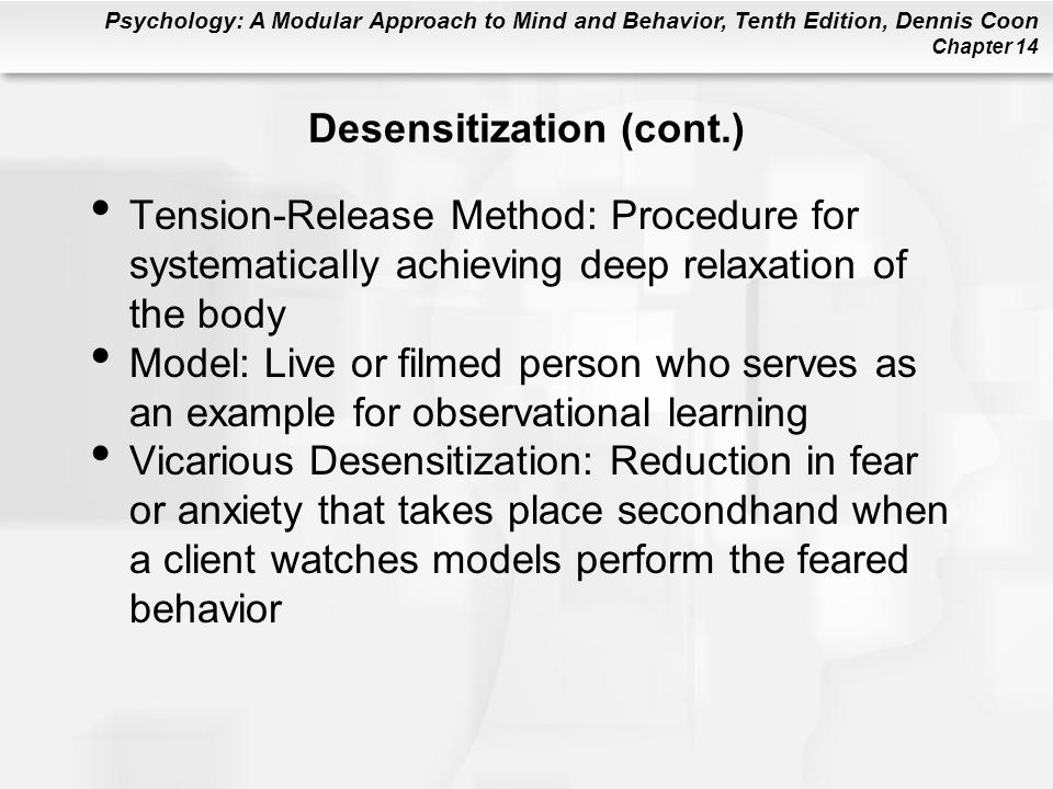 Desensitization (cont.)