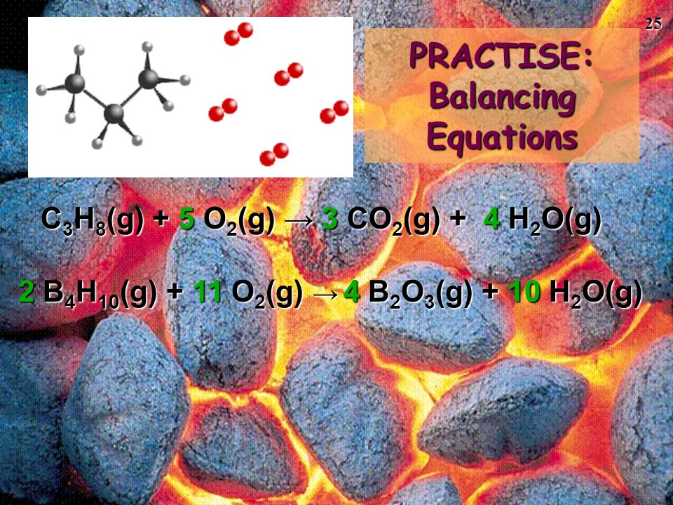 PRACTISE: Balancing Equations