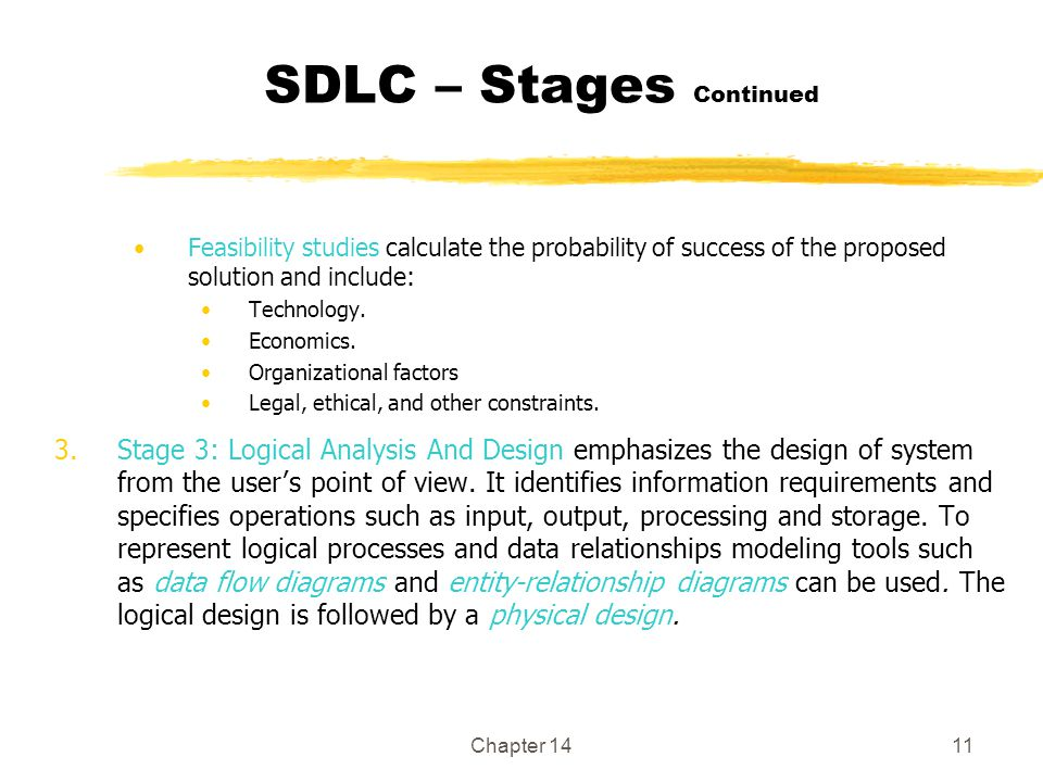 SDLC – Stages Continued