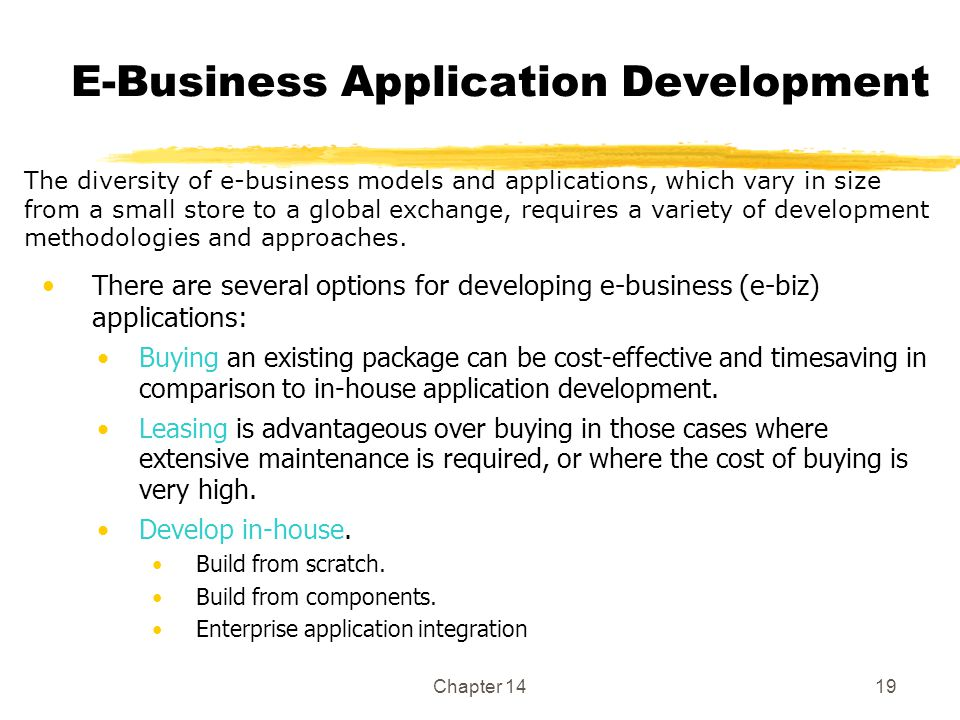 E-Business Application Development