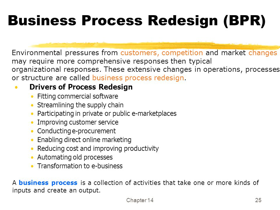 Business Process Redesign (BPR)