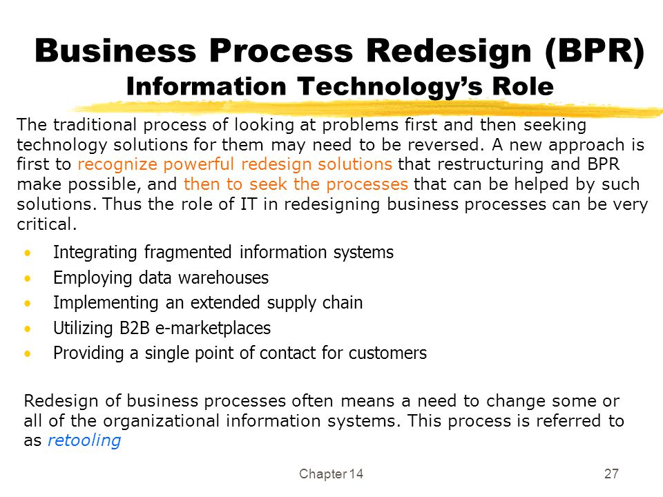 the role of it in bpr information technology essay Free essay: supply chain management and information technology this paper will discuss how to achieve the benefits of cost reduction and profits through the.