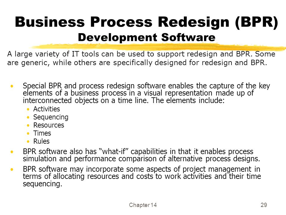 Business Process Redesign (BPR) Development Software