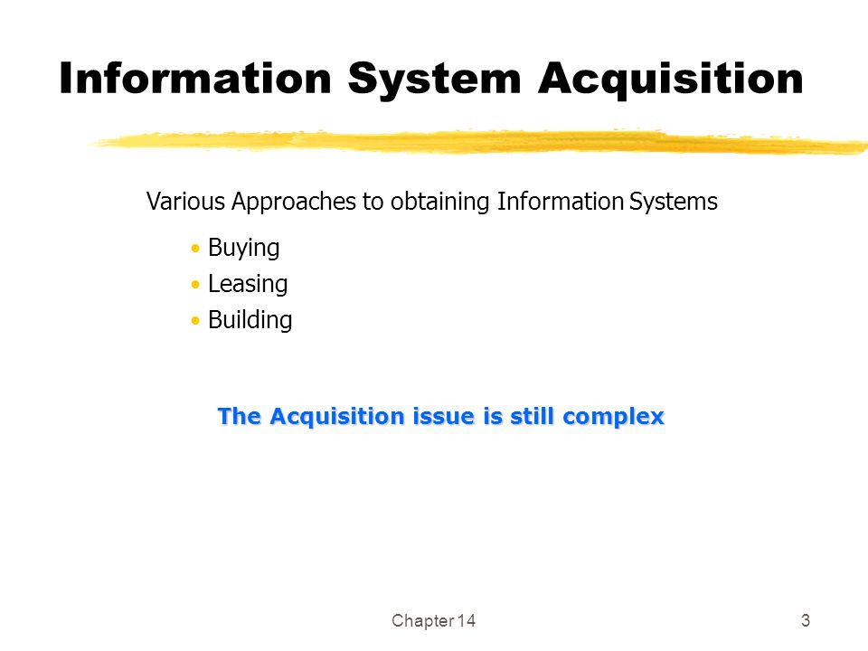 Information System Acquisition