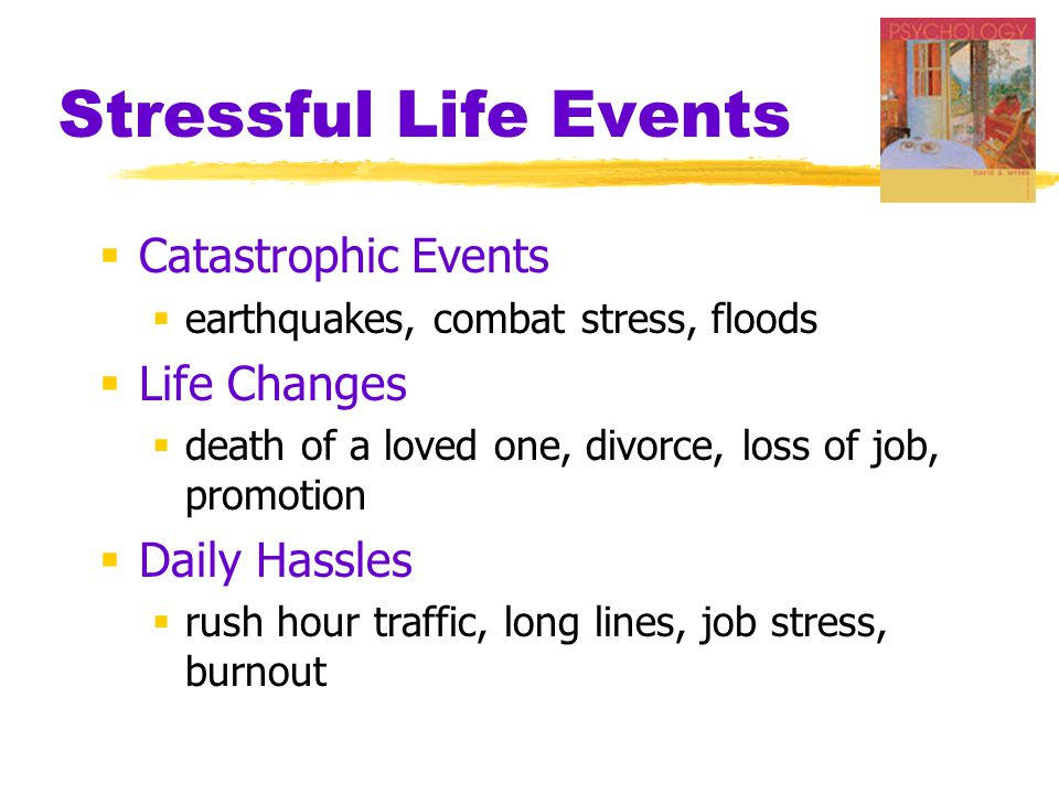 Stressful Life Events Catastrophic Events Life Changes Daily Hassles