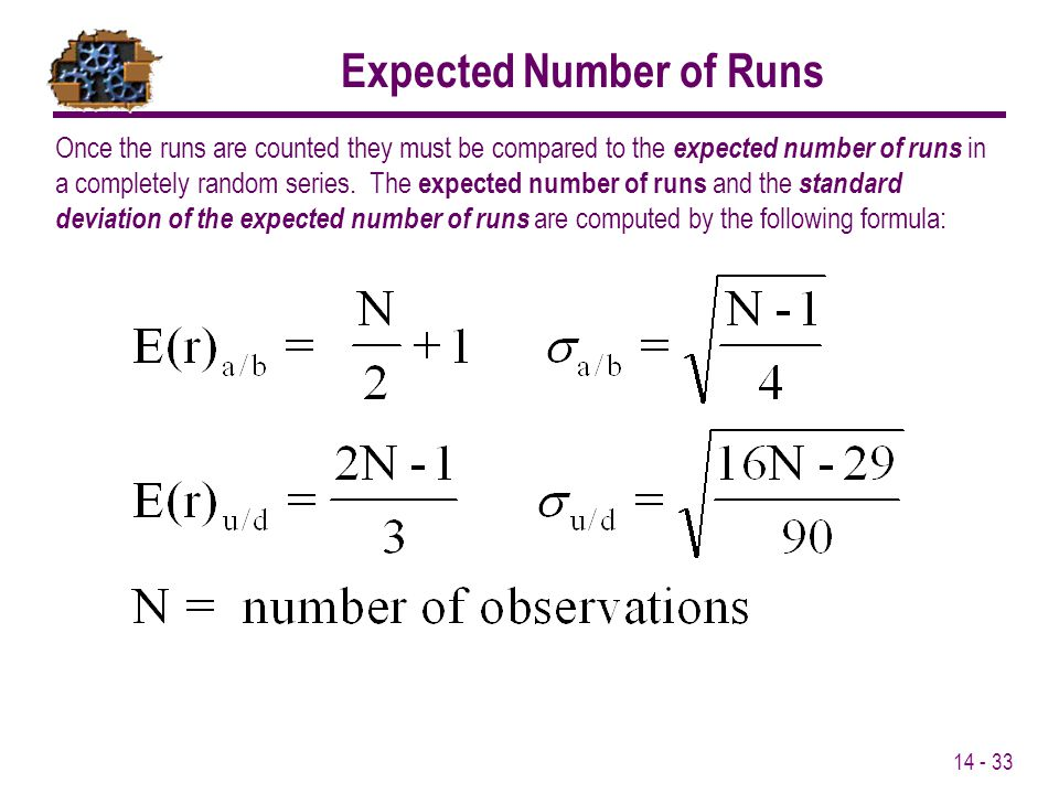 Expected Number of Runs