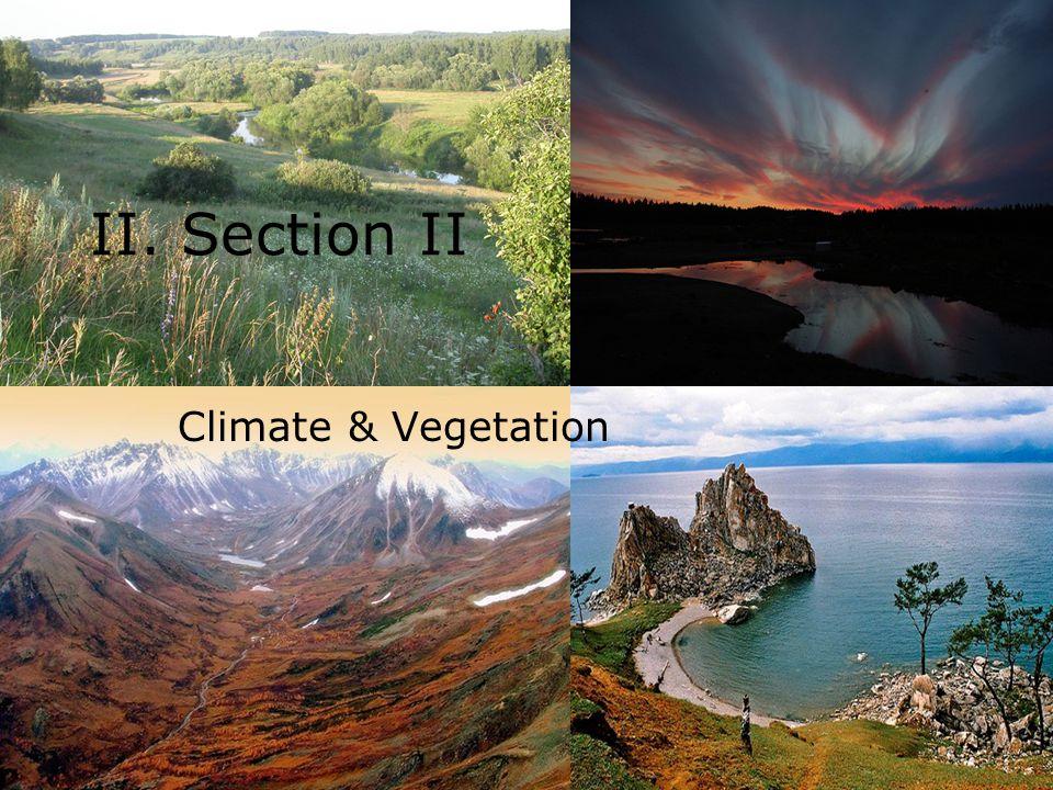 II. Section II Climate & Vegetation