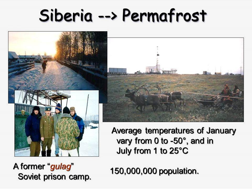Siberia --> Permafrost