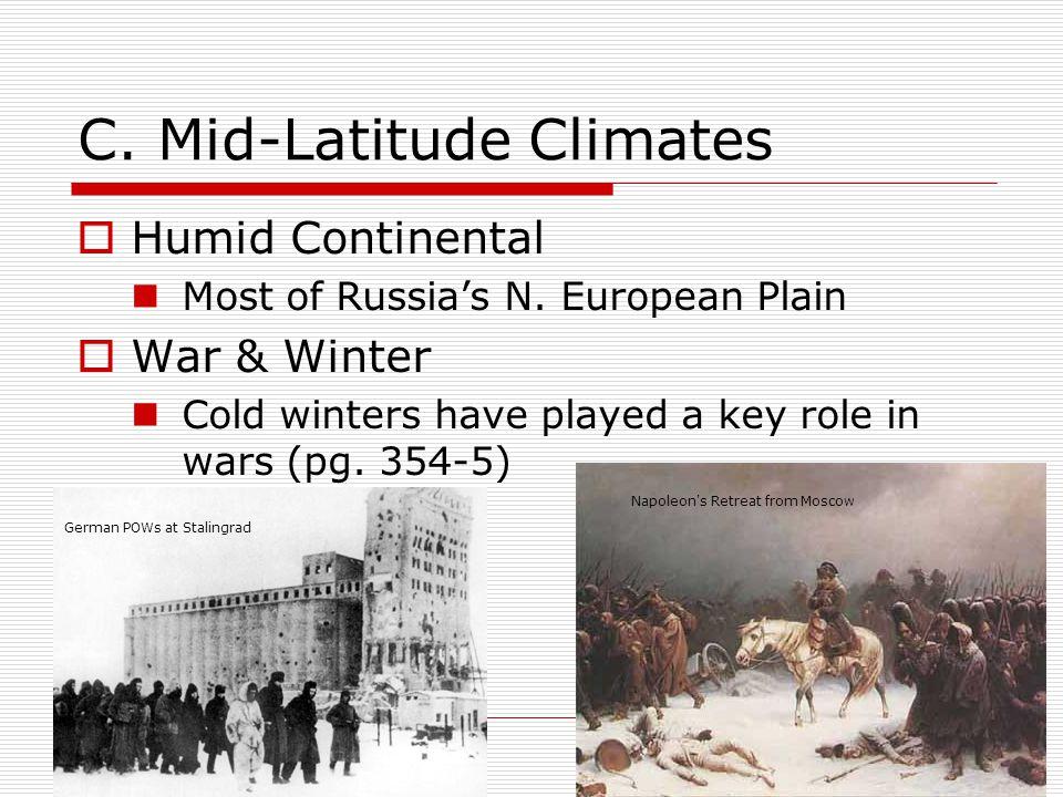 C. Mid-Latitude Climates