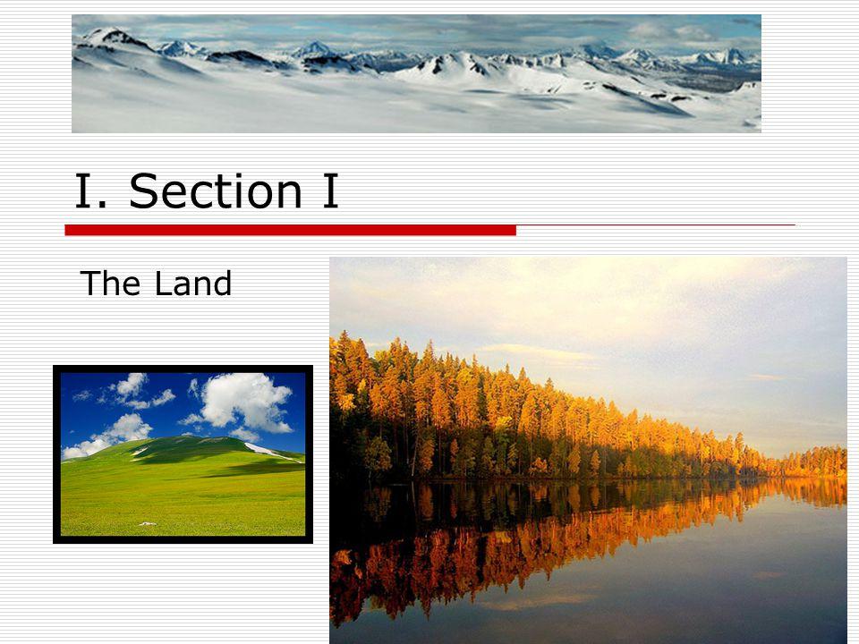 I. Section I The Land