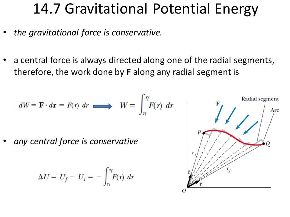 14.7 Gravitational Potential Energy
