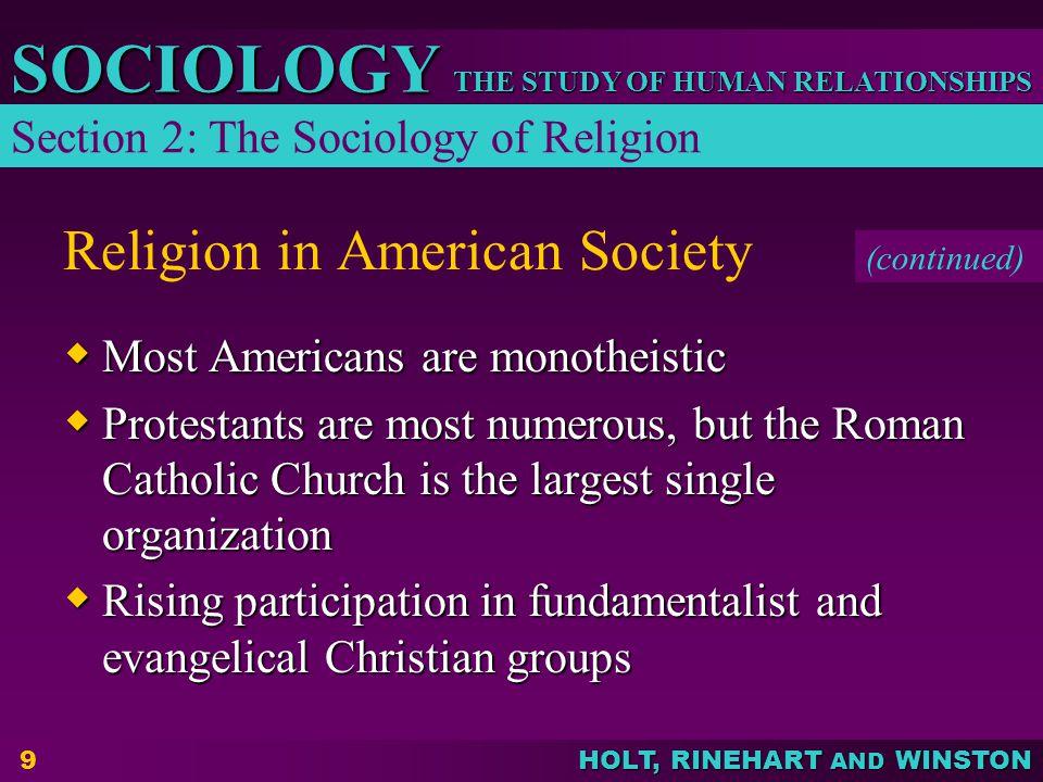 Religion in American Society