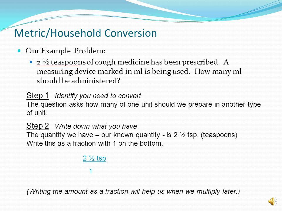 Metric/Household Conversion