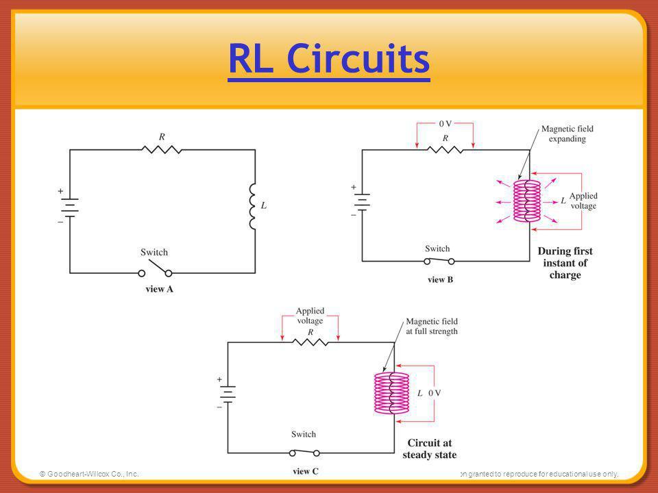 RL Circuits © Goodheart-Willcox Co., Inc.