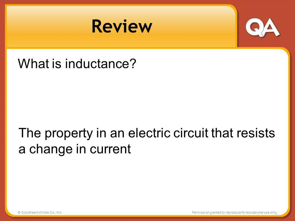 Review What is inductance