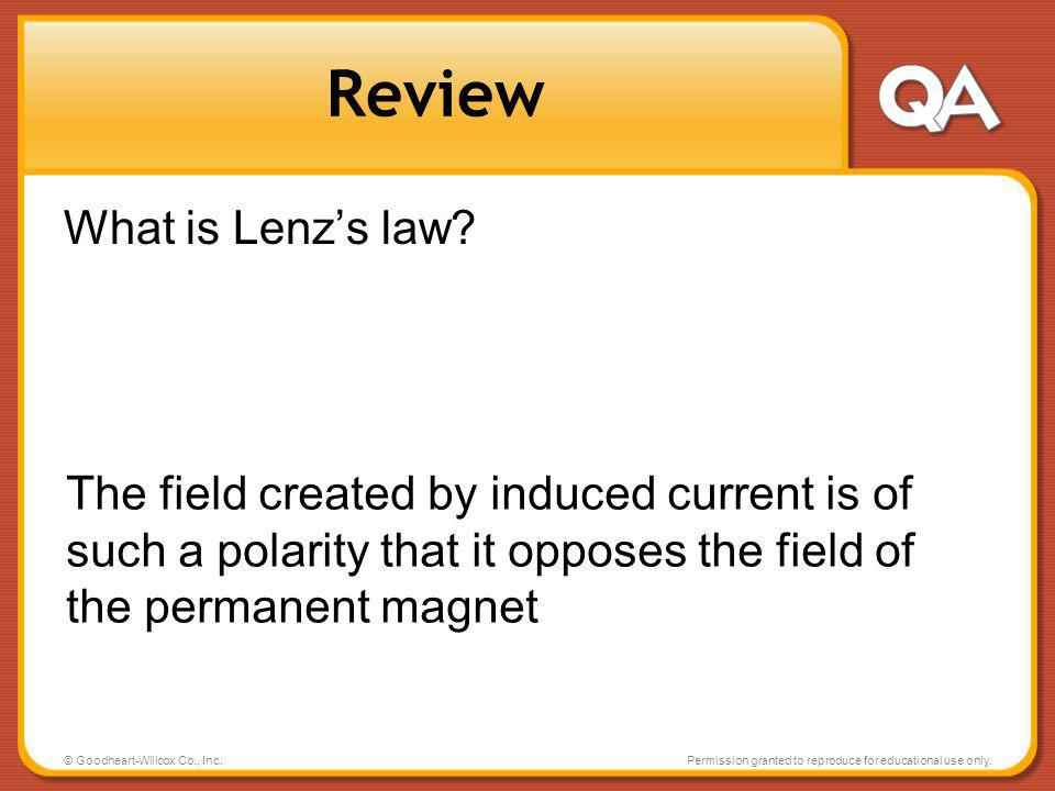Review What is Lenz's law