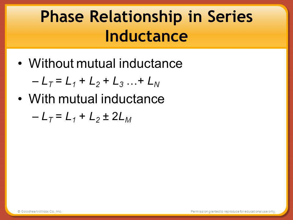 Phase Relationship in Series Inductance