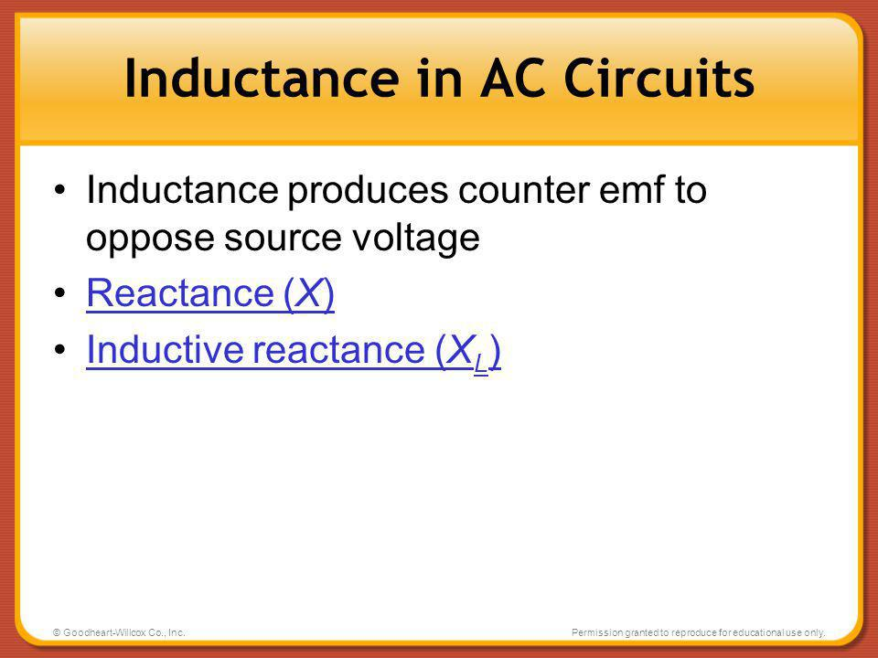Inductance in AC Circuits