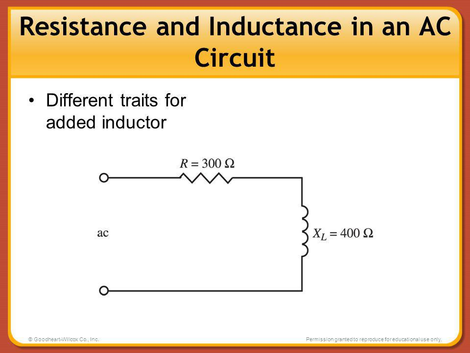 Resistance and Inductance in an AC Circuit