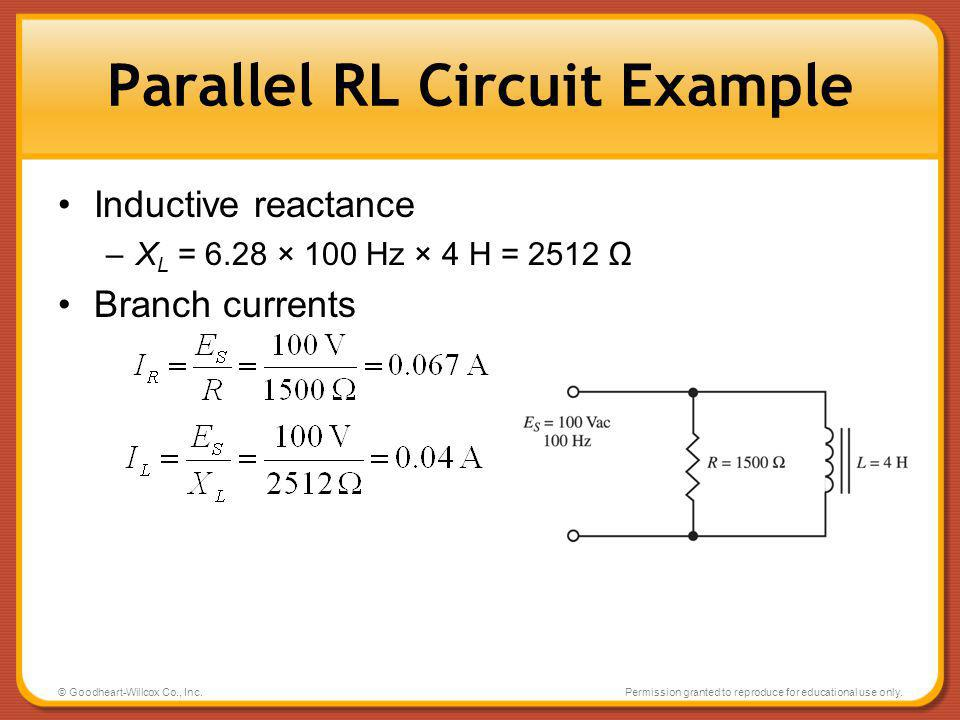 Parallel RL Circuit Example
