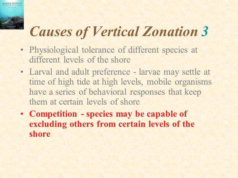Causes of Vertical Zonation 3