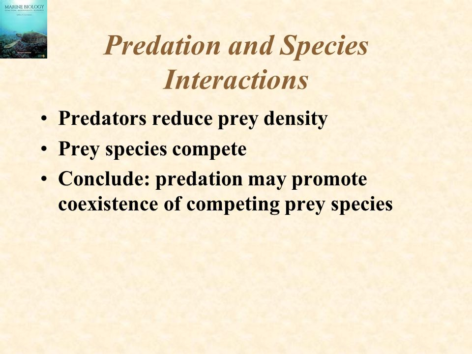 Predation and Species Interactions