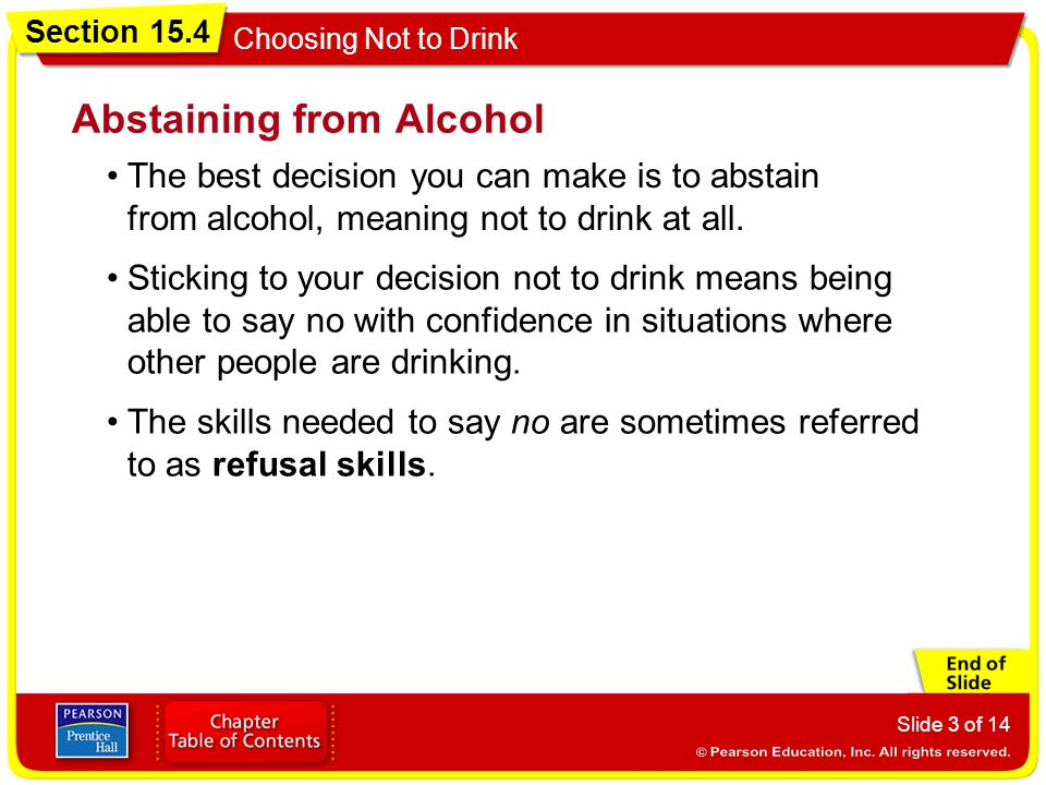 Abstaining from Alcohol