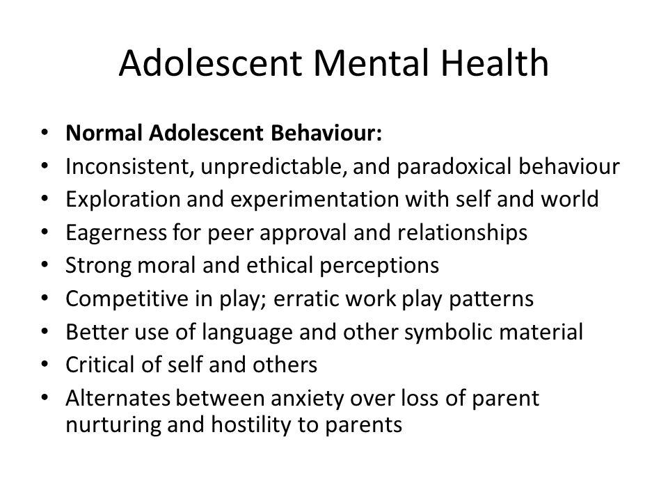 Adolescent Mental Health