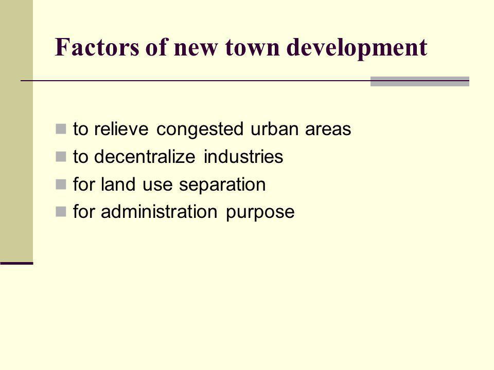 Factors of new town development