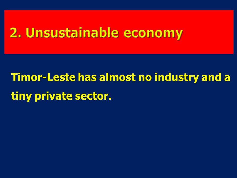 2. Unsustainable economy