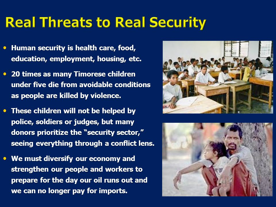 Real Threats to Real Security