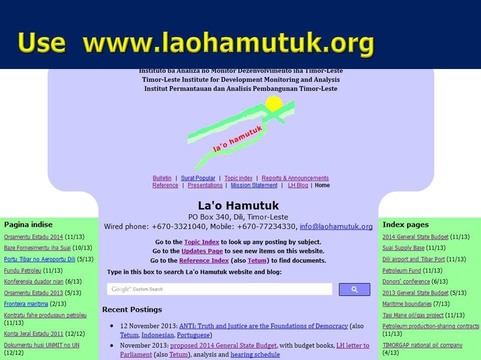 Use www.laohamutuk.org