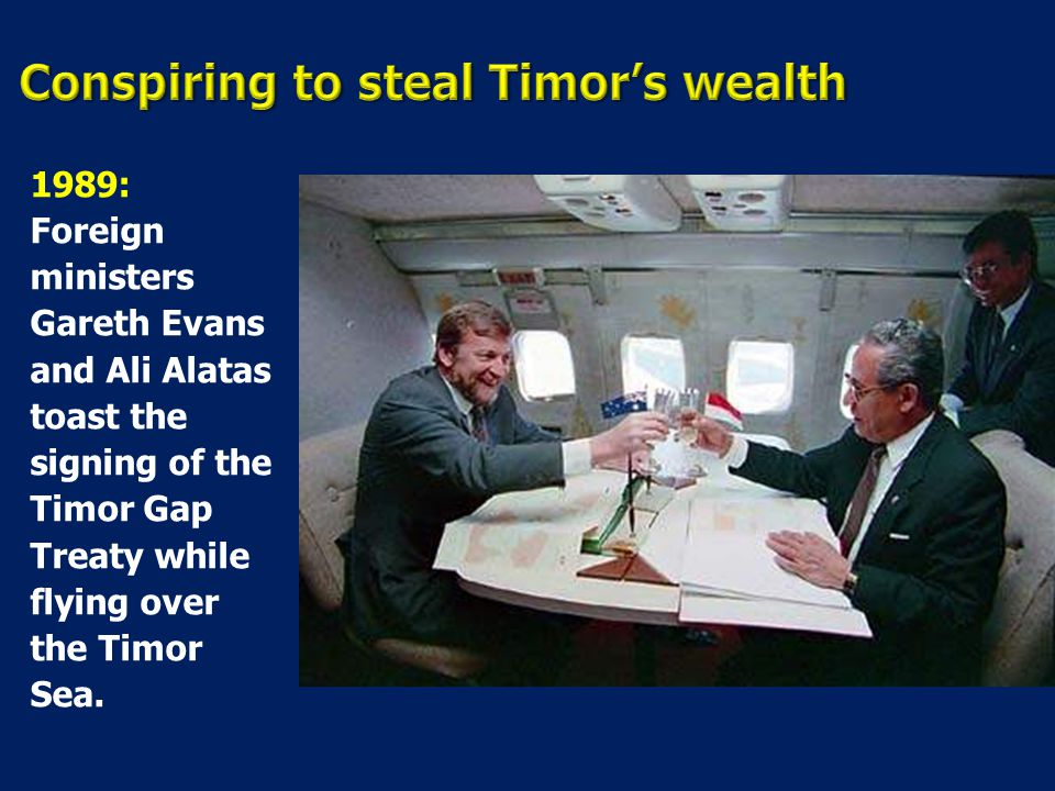 Conspiring to steal Timor's wealth