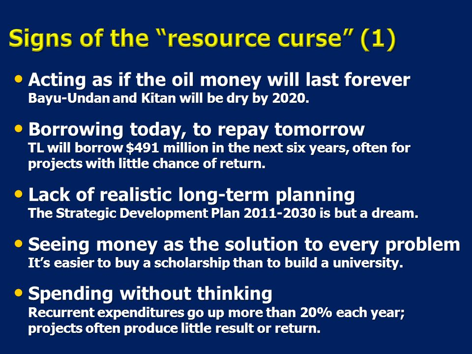 Signs of the resource curse (1)