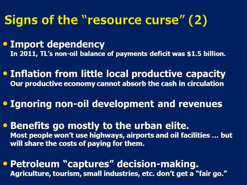 Signs of the resource curse (2)
