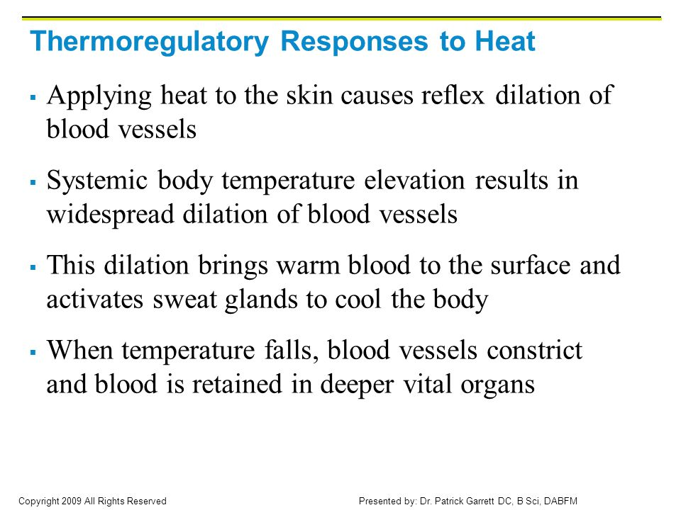 Thermoregulatory Responses to Heat