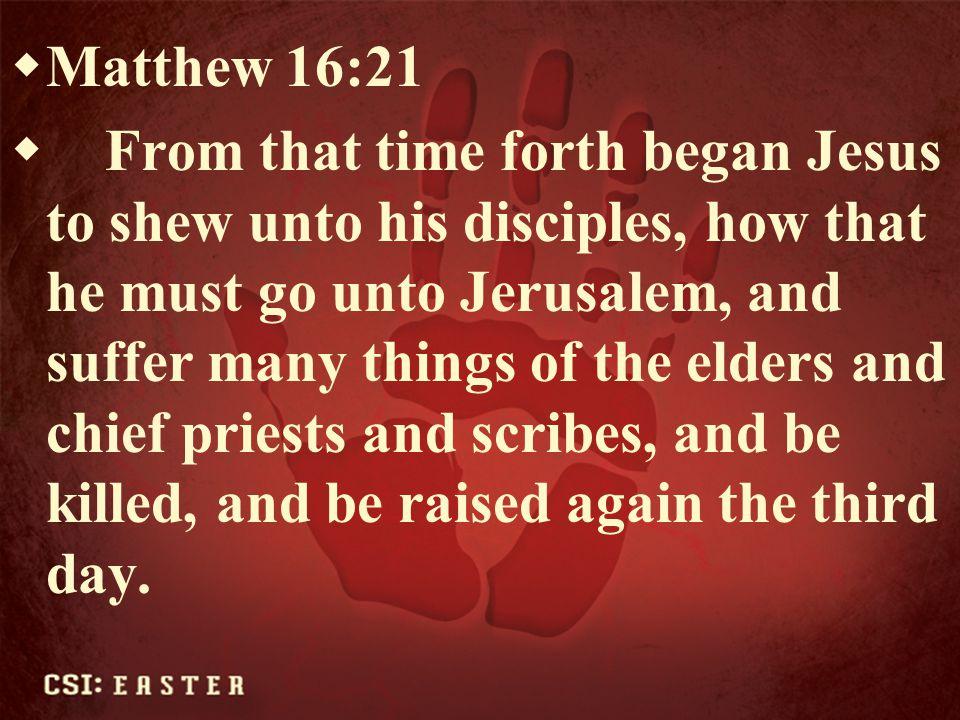Matthew 16:21