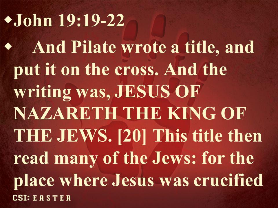 John 19:19-22