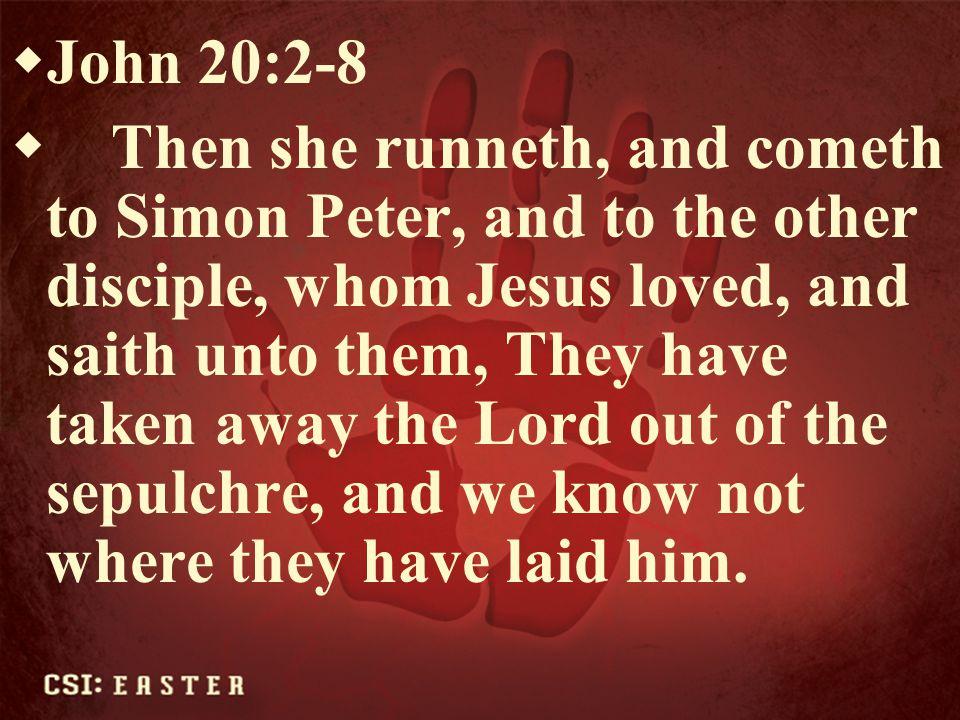 John 20:2-8