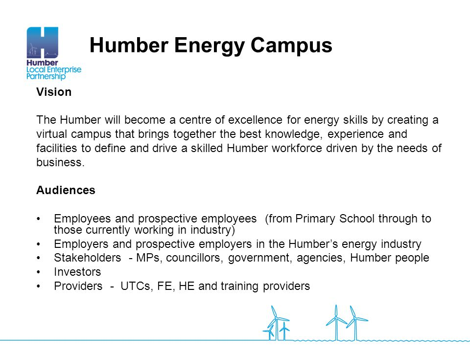 Humber Energy Campus Vision
