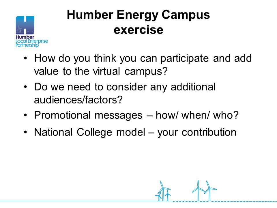 Humber Energy Campus exercise