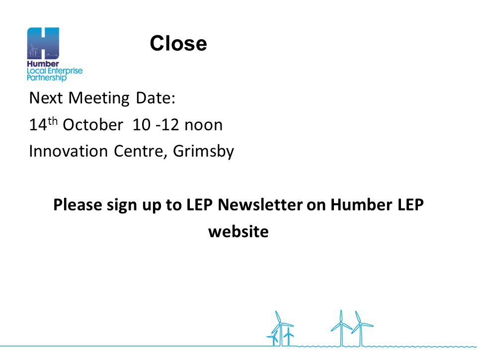 Please sign up to LEP Newsletter on Humber LEP
